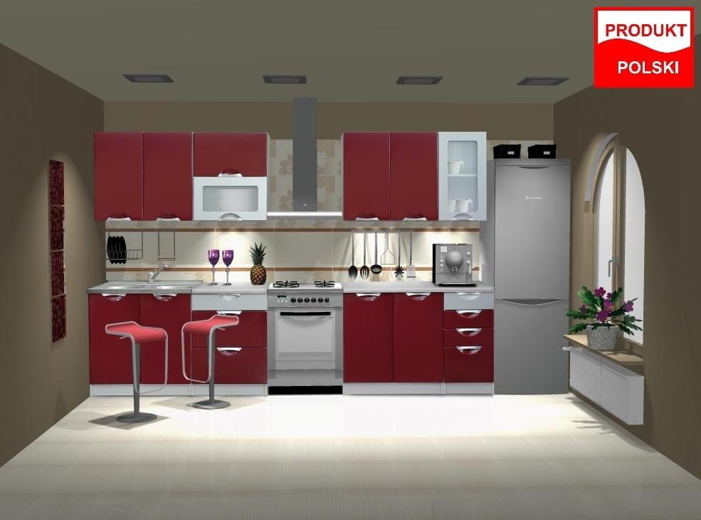 PROMOCJA ! Meble kuchenne kuchnia zestaw TAFLA połysk   -> Kuchnia Sandy Style